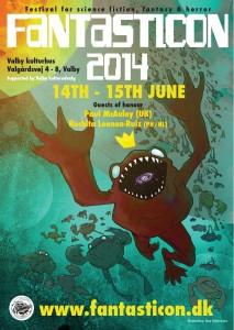 Plakaten til Fantasticon 2014. Illustration: Tom Kristensen
